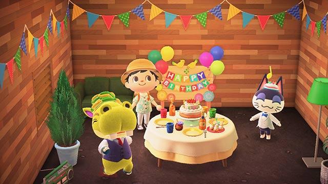 あつまれどうぶつの森 お誕生日会