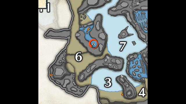 モンハンライズ 寒冷群島 サブキャンプ1 地図