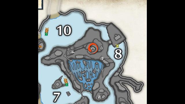 モンハンライズ 寒冷群島 サブキャンプ2 地図