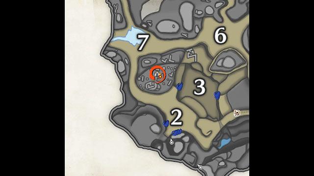 モンハンライズ 砂原 サブキャンプ1 地図