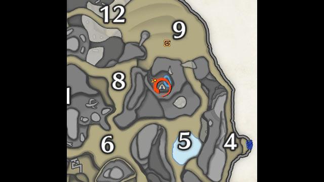 モンハンライズ 砂原 サブキャンプ2 地図
