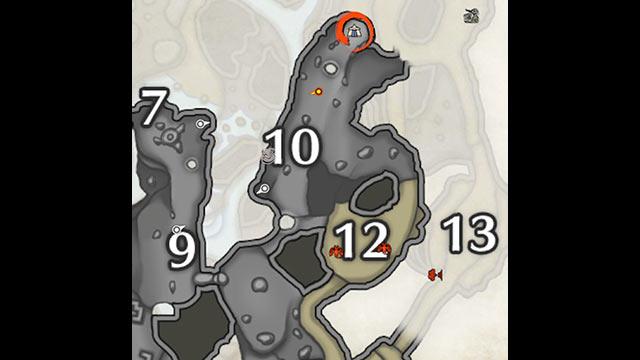 モンハンライズ 溶岩洞 サブキャンプ1 地図